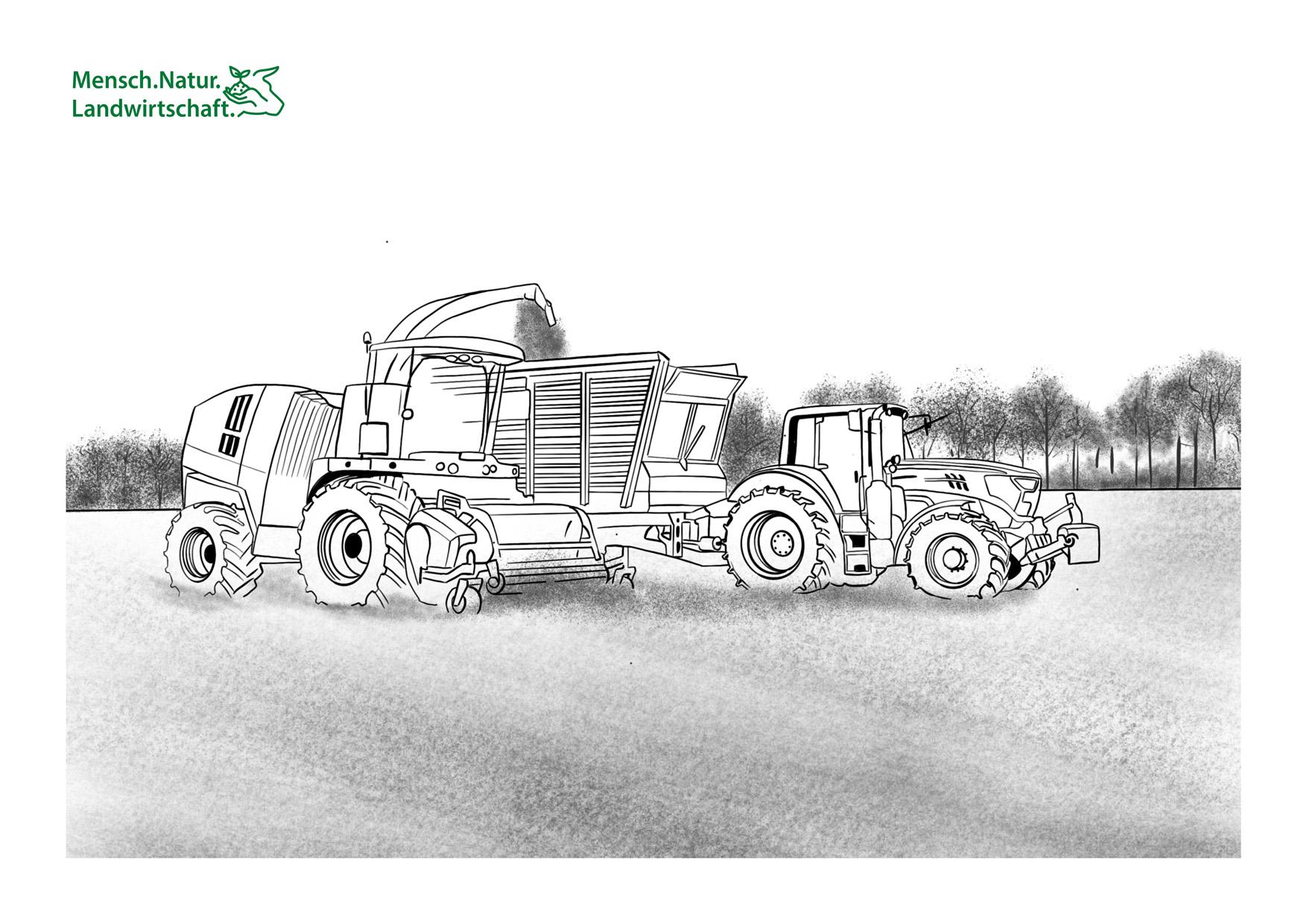 natur landwirtschaft malbuch