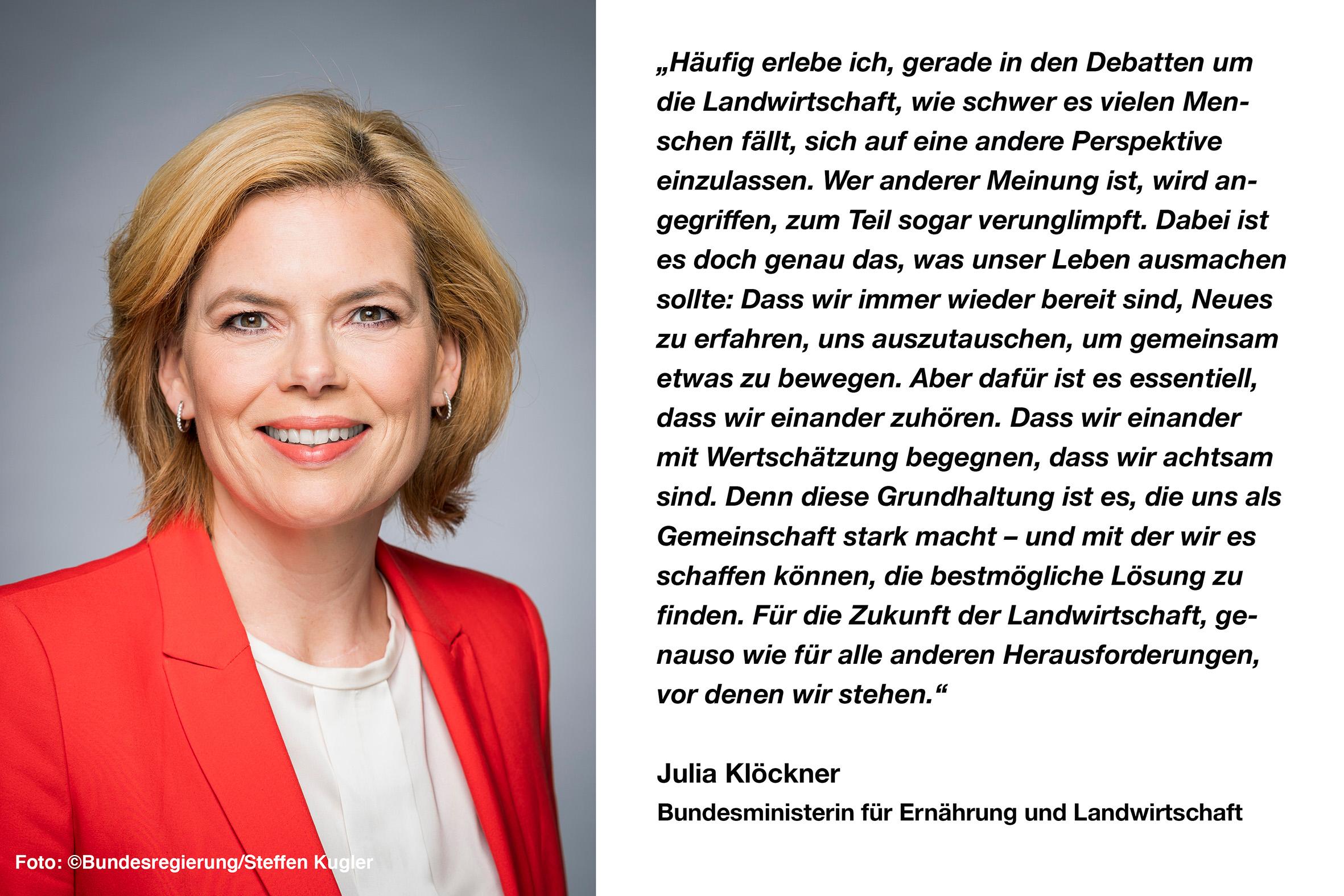 Bundesministerin Julia Klöckner